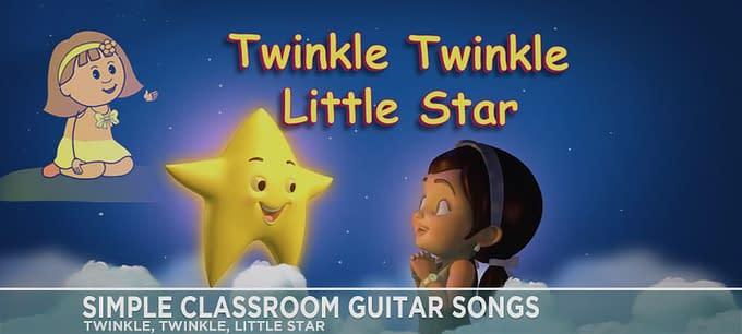 Simple Classroom Guitar Songs - Twinkle, Twinkle, Little Star